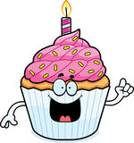 Cartoon Birthday Cupcake Idea Royalty Free Stock Image