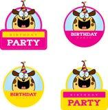 Cartoon Birthday Dog Graphic Stock Photography