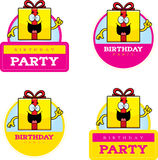 Cartoon Birthday Gift Graphic Royalty Free Stock Image