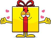 Cartoon Birthday Gift Hug Stock Image