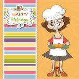 Cartoon birthday greeting card Stock Photography