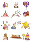 Cartoon birthday icon Royalty Free Stock Images