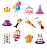 Cartoon birthday icon Stock Photos