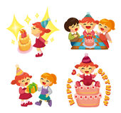 Cartoon birthday  party Stock Image