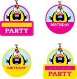 Cartoon Birthday Toucan Graphic Royalty Free Stock Photography