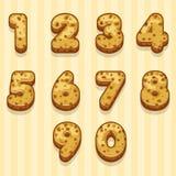 Cartoon biscuits figures set. In vector Stock Images