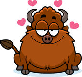 Cartoon Bison in Love Stock Images