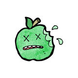 Cartoon bitten apple Stock Photo