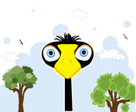 Cartoon black bird Royalty Free Stock Images