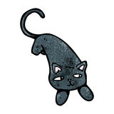 Cartoon black cat Stock Image