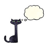 Cartoon black cat with thought bubble Royalty Free Stock Image
