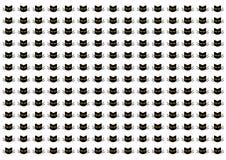 Cartoon black cats silhouettes Royalty Free Stock Photography