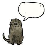 Cartoon black dog Stock Photography