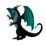 Cartoon black dragon Royalty Free Stock Photos