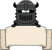 Cartoon Black Knight Banner Stock Images