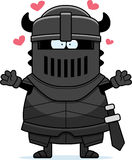 Cartoon Black Knight Hug Royalty Free Stock Image