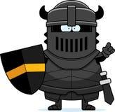 Cartoon Black Knight Idea Stock Photo