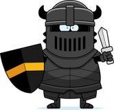 Cartoon Black Knight Sword Stock Image
