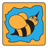 Cartoon black orange bumble bee Royalty Free Stock Photo