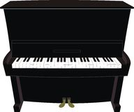 Cartoon black piano. Illustration isolated vector of cartoon black piano – old, classical, modern Royalty Free Stock Photography