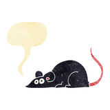 Cartoon black rat with speech bubble Royalty Free Stock Image