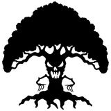 Cartoon black tree. Royalty Free Stock Images