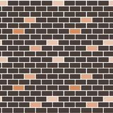 Cartoon black wall brick seamless pattern background illustration Stock Photo
