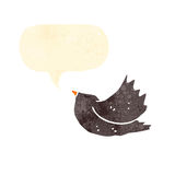 Cartoon blackbird Stock Images