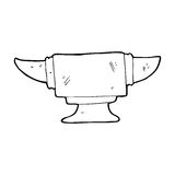 cartoon blacksmith anvil Royalty Free Stock Image