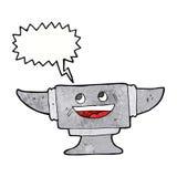 cartoon blacksmith anvil with speech bubble Royalty Free Stock Photos
