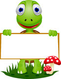 Cartoon and blank signboard Royalty Free Stock Photo