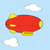 Cartoon blimp Stock Photography