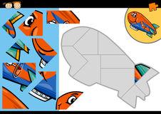 Free Cartoon Blimp Jigsaw Puzzle Game Royalty Free Stock Photography - 41646457