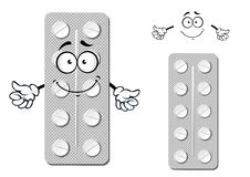Cartoon blister pack of pills Royalty Free Stock Image