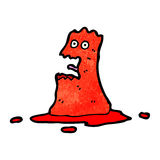 cartoon blob monster Stock Image