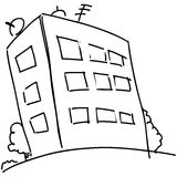 Cartoon block of flats Royalty Free Stock Photography