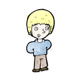 Cartoon blond boy Stock Photos