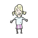 Cartoon blond girl Stock Photos