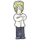cartoon blond man with curly hair Stock Photo
