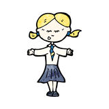Cartoon blond school kid Royalty Free Stock Photo