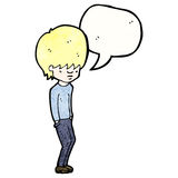 Cartoon blond teenager Royalty Free Stock Photography