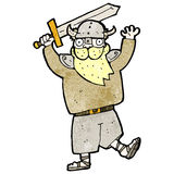 Cartoon blond viking man Royalty Free Stock Image