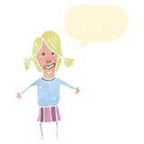 Cartoon blond woman Stock Image