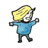 Cartoon blond woman Royalty Free Stock Photography