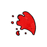 Cartoon blood splash Royalty Free Stock Photography
