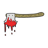 Cartoon bloody axe Stock Photo