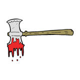 Cartoon bloody axe Royalty Free Stock Image
