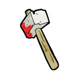 Cartoon bloody hammer Royalty Free Stock Images