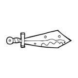 Cartoon bloody sword Stock Photography