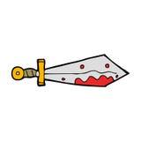 Cartoon bloody sword Royalty Free Stock Photos